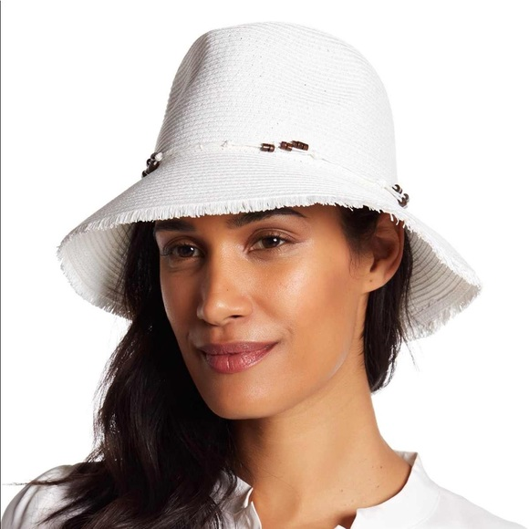 ca0b9ee846251 Tommy Bahama Sunset Palms Bucket Hat in white